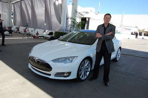 Elon Musk at Tesla facility in Fremont, CA