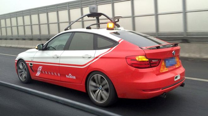 Baidu's autonomous car during test drive in China