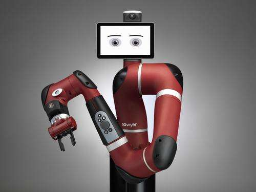 Rethink Robotics developed a one-armed robot, named Sawyer that is smaller and less expensive than its signature robot, Baxter.    (Source: Rethink Robotics)