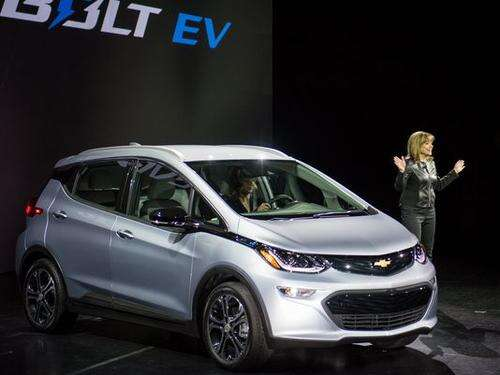 GM unveiled the production version of the much-anticipated Chevy Bolt, the automaker's 200-mile range all-electric car with a $30,000 price tag (after federal incentives). Notable about the Bolt is that its range is double that of EVs in a comparable price bracket and second only to the Tesla Model S, which can go further ($265 miles without charging) but starts at a much higher price point of $70,000. Indeed, it's the low price and mileage combination that GM expects will help the Bolt shake up the EV market when it's available commercially late this year.  (Source: GM)