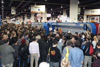 Crowds like this one at CES come to see the latest  products, but the news this year is the Internet of Things.