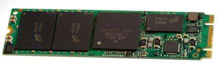 Figure 1. The M.2 card was formerly known as the NGFF (New Generation Form factor) card. (Source: sata-io.org)