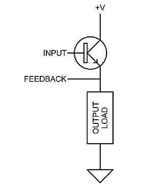 Transistor (BJT or MOSFET) emitter/source follower.