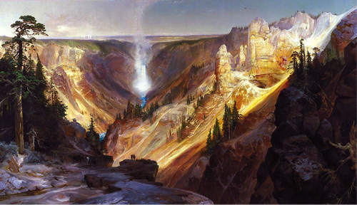 Thomas Moran, 'Grand Canyon of the Yellowstone', 1872 (source: commons.wikimedia.org)