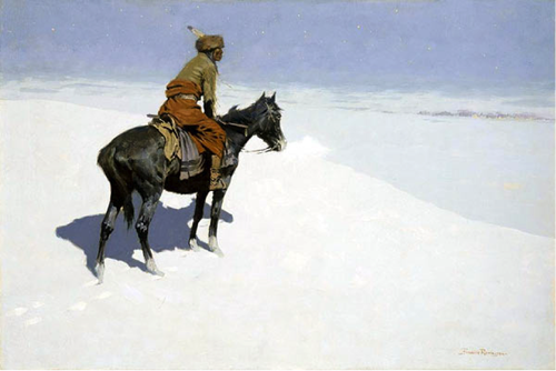 Frederic Remington, 'The Scout: Friend or Foes?', 1902-1905 (Source: Wikipedia)