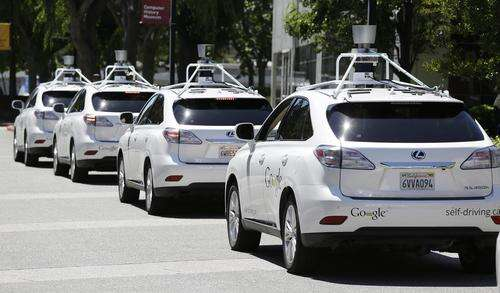 Google's fleet of self-driving cars