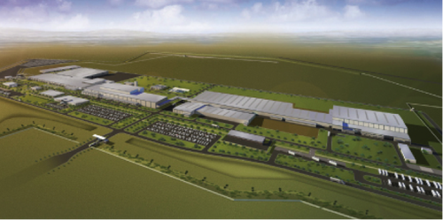 Mazda's new assembly plant in Salamanca, Mexico