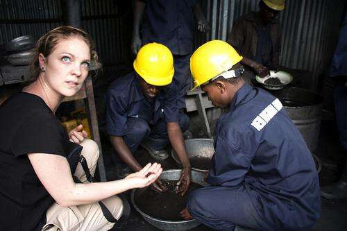 Laura Gerritsen from Fairphone visiting the mine Photo courtesy: Fairphone