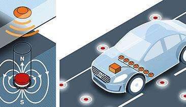 Volvo is using magnets to help autonomous cars maneuver through the streets.