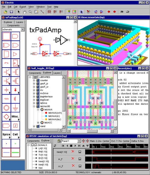 Static Free Software's Electric VLSI design and testing software.