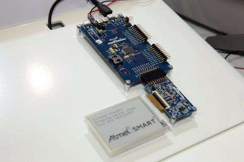 Atmel Smart hooked up at Atmel's booth at the Electronica conference in Munich.
