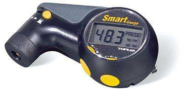 This inexpensive digital-pressure gauge is a pleasure to use: It reads up to 160 psi/11 bar (useful for bike tires and suspensions) to three significant figures; can be switched among psi, Bar, or kg/cm² readings; and handles Presta and Schrader valves -- a big improvement over the old 'pencil-type' mechanical tire-pressure gauges.