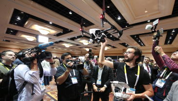 Drone displays at CES 2015.