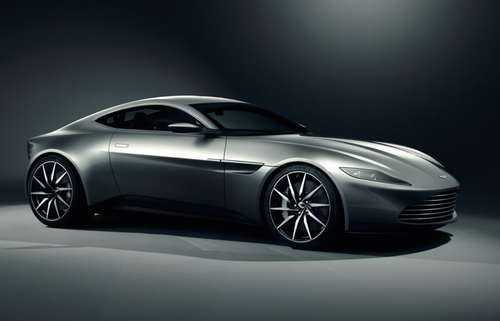 James Bond's ride made especially for the new Columbia Pictures movie Spectre, where he will be car chasing the bad guys hybrid Jaguar C-X75 concept super-car. (Source: Aston Martin Lagonda Ltd.)