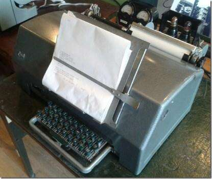 A 1930s Creed teleprinter.