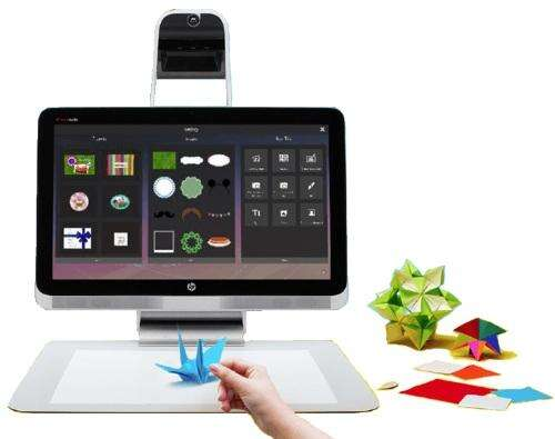 HP's Sprout captures 3-D images with an overhead camera.