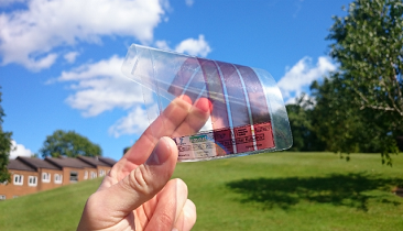 Flexible solar cell. Source: University of Surrey