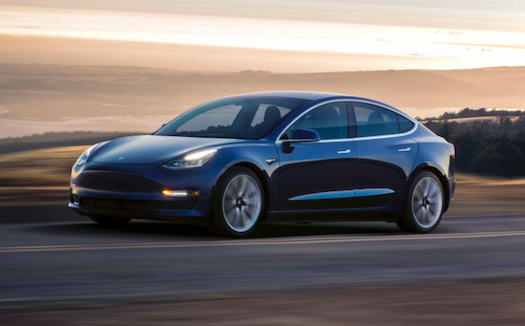 Tesla has struggled with production delays of its Model 3, its first mass-produced car. Photo courtesy: Tesla