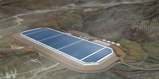 Tesla's Sparks, Nevada Giga factory is a major source of car batteries for the company. (Photo courtesy: Tesla)