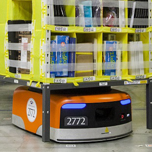 In 2012, Amazon acquired Kiva Robots to use in the warehouse.