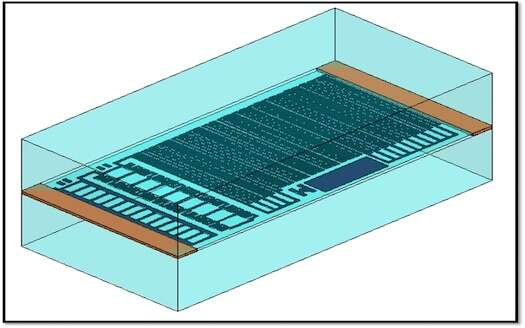This drawing depicts thin-film matched resistor network orientation within component package.